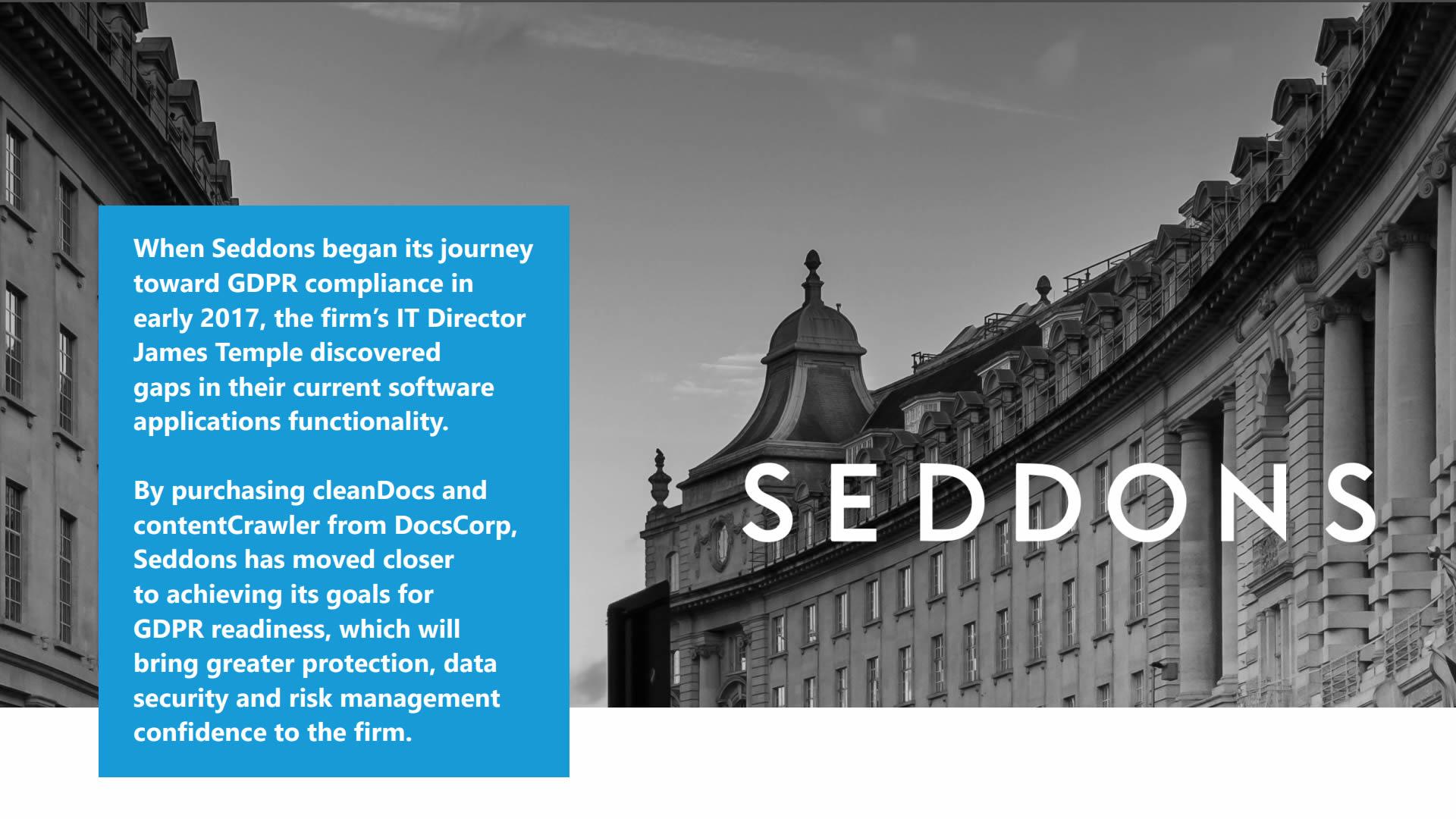 Seddons report