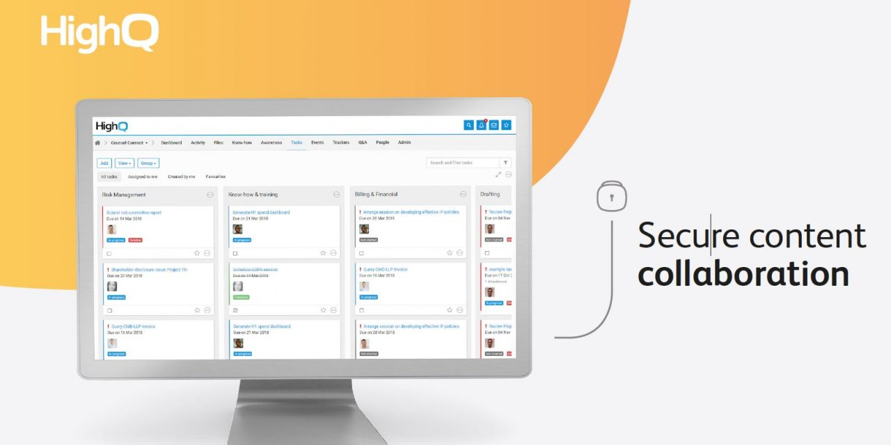 Bring teams together to securely share files, manage projects and improve processes