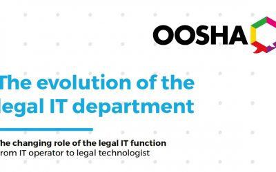 eBook The evolution of the legal IT department Oosha Insights