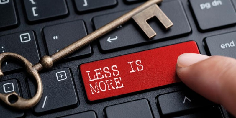 Law set for 'less is more' web