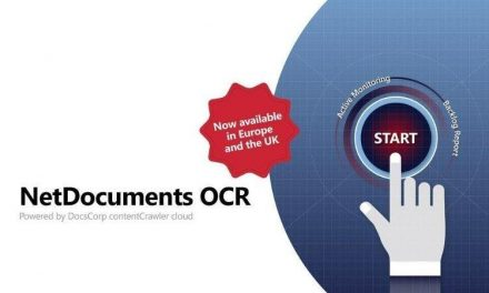 NetDocuments OCR powered by contentCrawler cloud available in Europe and the UK