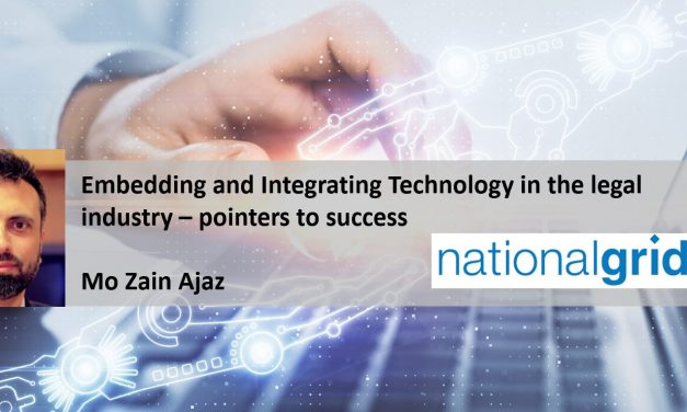 Embedding and Integrating Technology in the legal industry – pointers to success