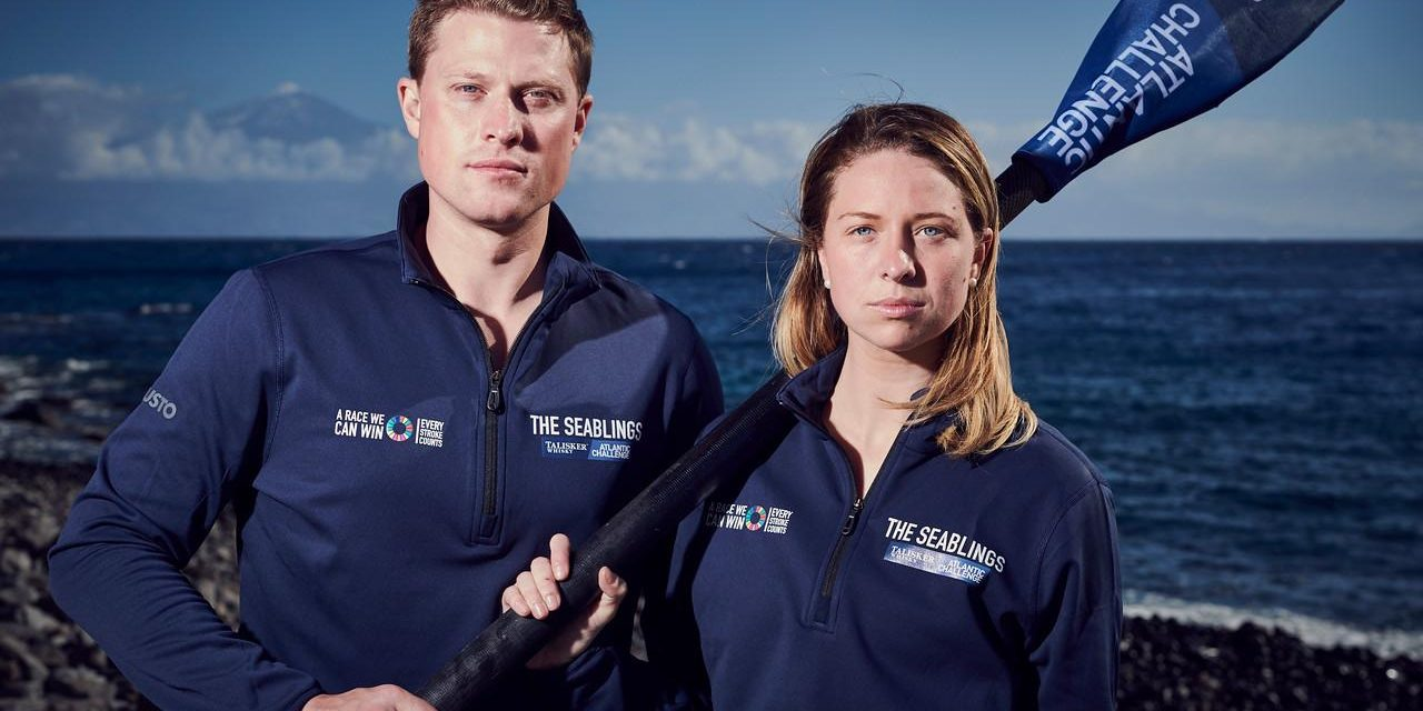 A brother and sister team are rowing 3,000 miles across the Atlantic Ocean – their equipment includes Microsoft Teams