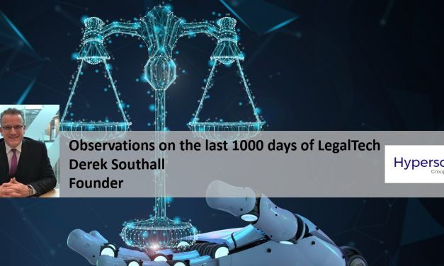 Observations on the last 1000 days of LegalTech