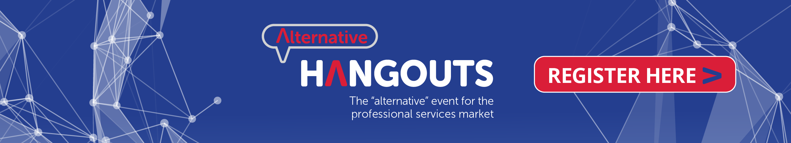 ANNOUNCING ALTERNATIVE HANGOUTS – a new digital community space for the professional services sector to socialise, learn, network, interact. We will be broadcasting LIVE every week to our professional services communities. Join us to connect with experts, peers, colleagues and friends from like-minded firms – to get advice, share experiences and find solutions. Learn more here