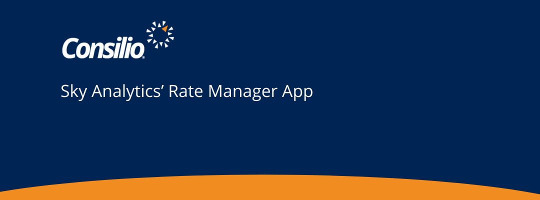Consilio Sky Analytics' Rate Manager App – Case Study