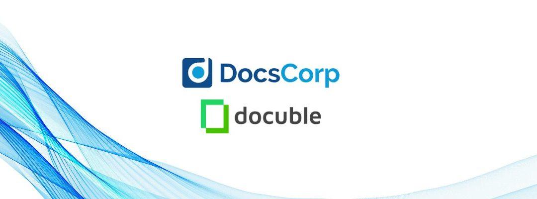 DocsCorp Expands its Document Productivity Platform with the Acquisition of Docuble